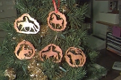Wood Laser-Cut Ornaments