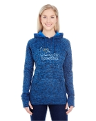 JA8616 Ladies Cosmic Contrast Fleece Hoody