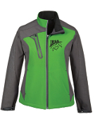 78176 Ladies Color-Block Soft Shell with Embossed Print