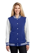 LST270 Ladies Fleece Letterman Jacket