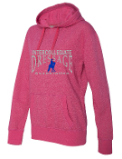 8860 Ladies Glitter Hooded Pullover