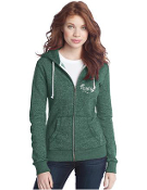 DT292 Juniors Marled Fleece Full-Zip Hoodie