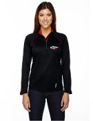 78187/88187 Ladies/Mens 1/2-Zip Yoga Shirt