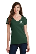 Ladies V Neck Tee Shirt - Long Sleeve/Short Sleeve