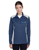 TT26W Ladies 1/4 Zip Performance Top - two tone