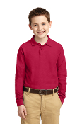 Y500LS Youth Long Sleeve Polo Shirt