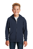 993B Youth Full-Zip Hooded Sweatshirt