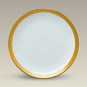 6433 Coupe Plate With Wide Gold Border 8""